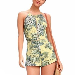 NWT BB Dakota Schiffer Yellow Tropical Romper US 2